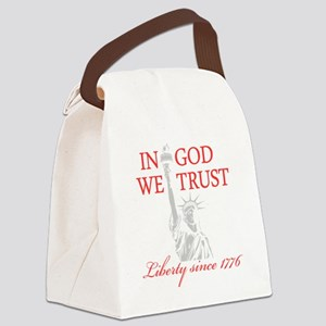 In-God-We-Trust-(Liberty)-black-s Canvas Lunch Bag